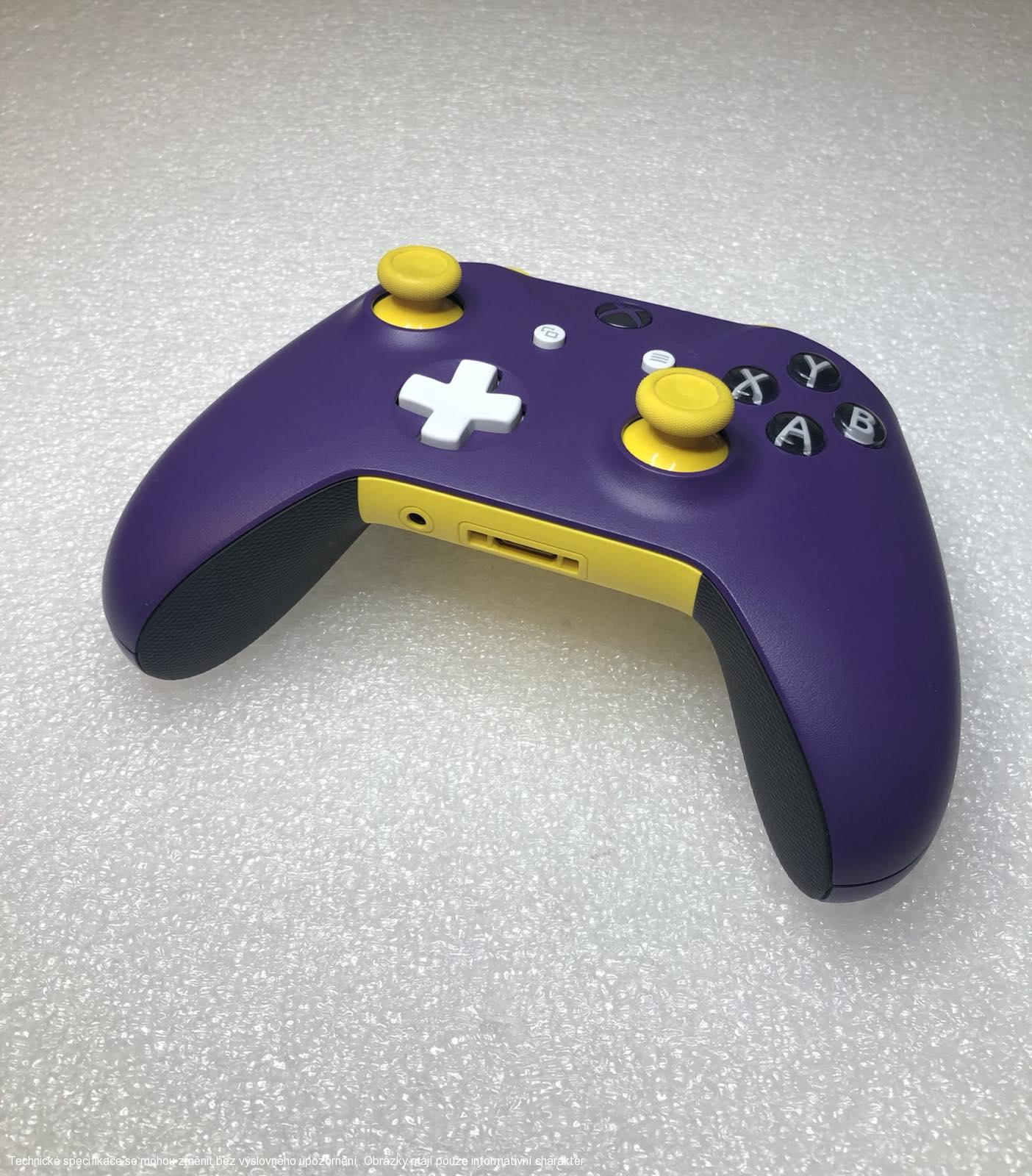 Microsoft Xbox One S Wireless Controller - Custom Purple/Yellow **POUŽITÝ**