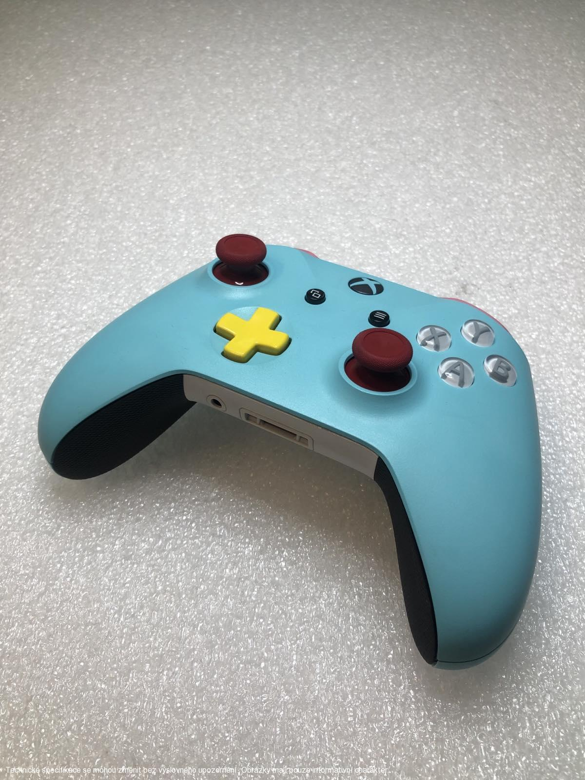 Microsoft Xbox One S Wireless Controller - Custom turquoise/Red/Yell **POUŽITÝ**