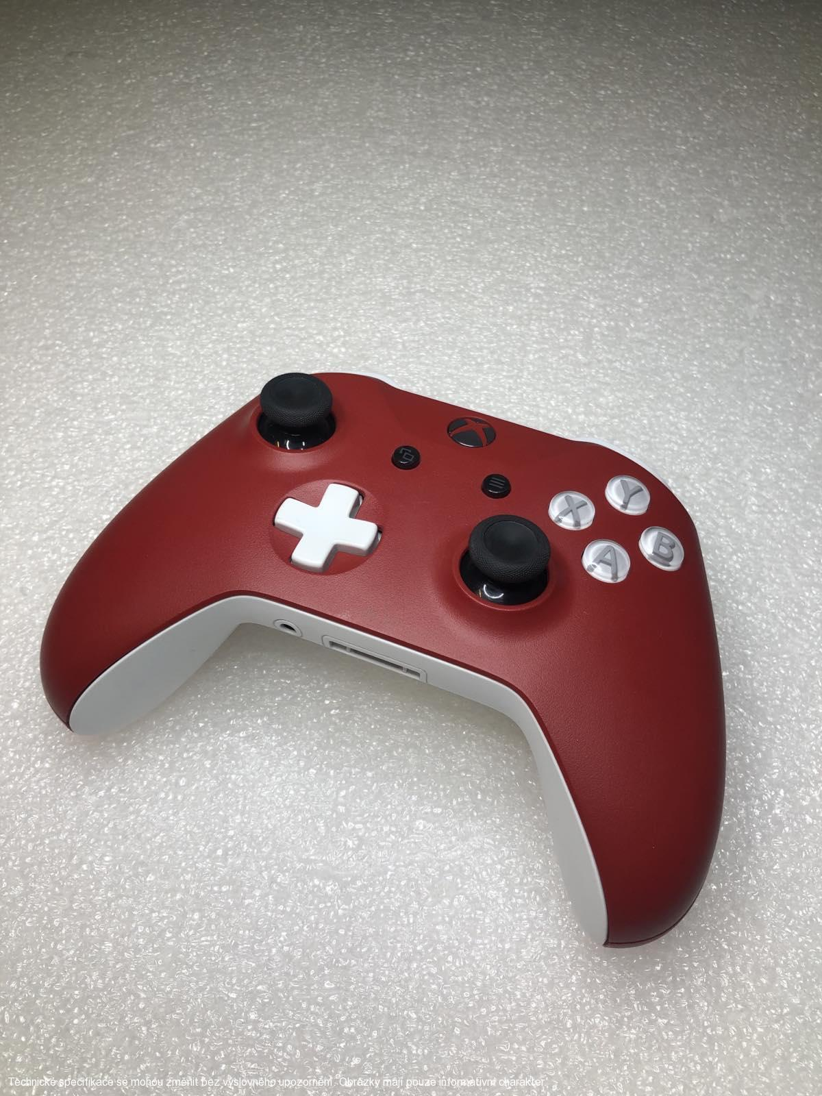 Microsoft Xbox One S Wireless Controller - Custom Red/White/black **POUŽITÝ**