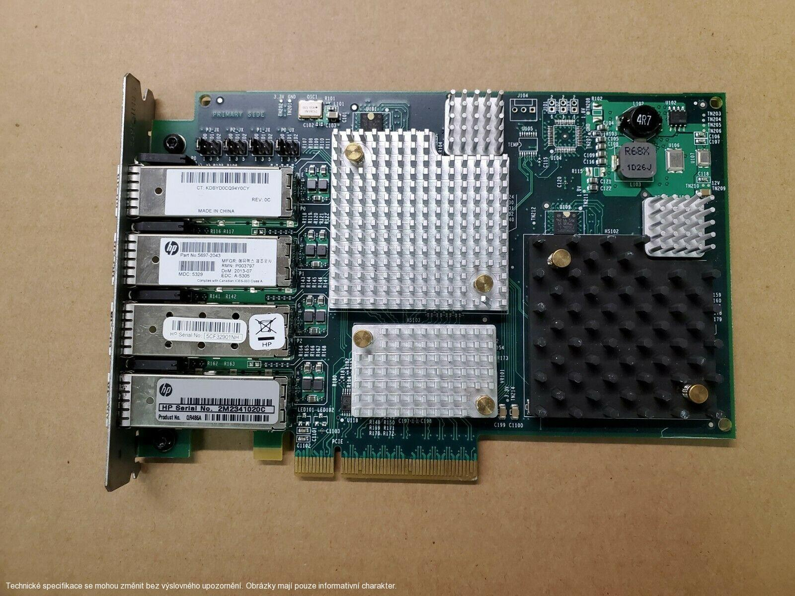 HP QR486A Emulex Quad 4Port 8G Fibre Channel | 5697-2043 PCI P003797