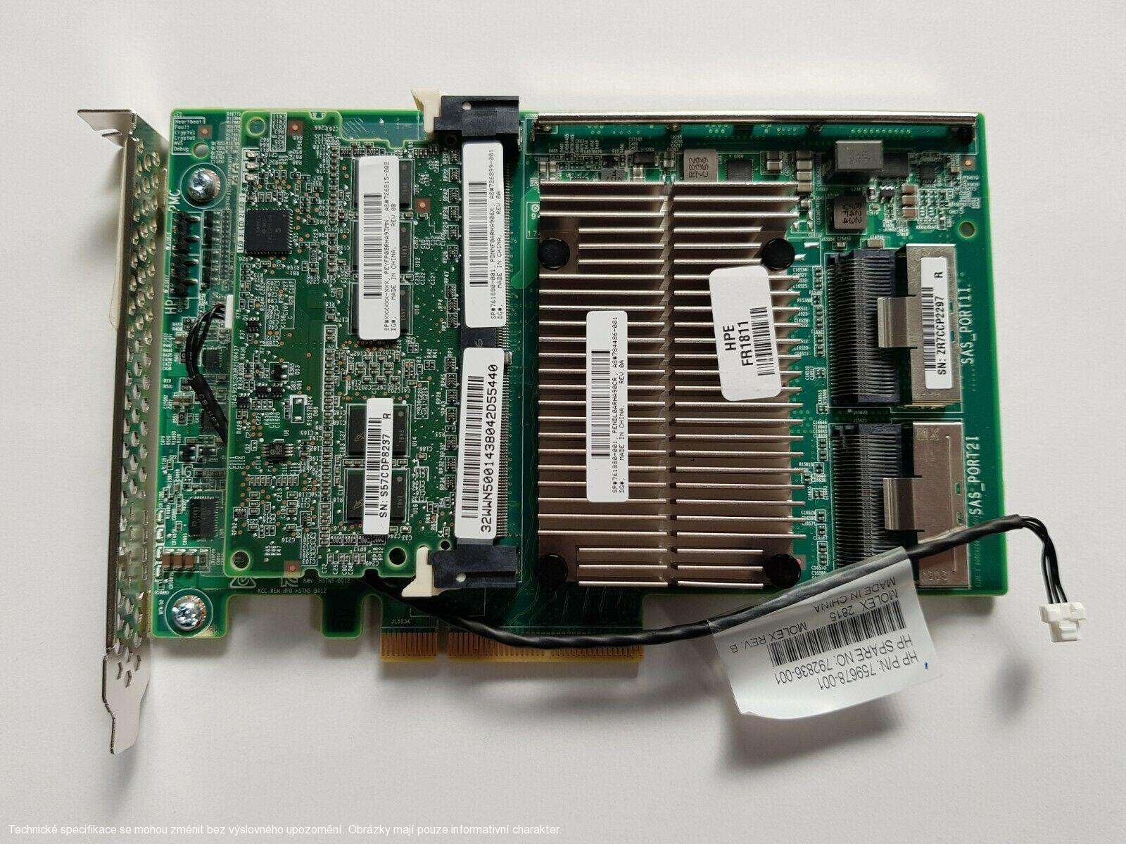 HP Smart Array P840 4GB FBWC 12Gb/s SAS RAID Controller 761880-001